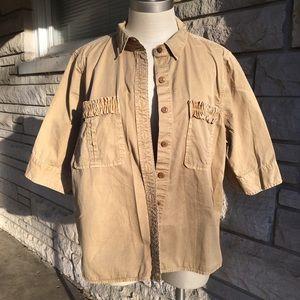 j. crew khaki cotton top